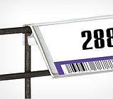 Ценникодержатель на корзины из металлических прутьев KE39 длина 1000 мм., цвет белый, фото 3