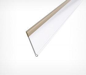 Ценникодержатель полочный самоклеющийся DBR39 длина 1000 мм.. цвет белый