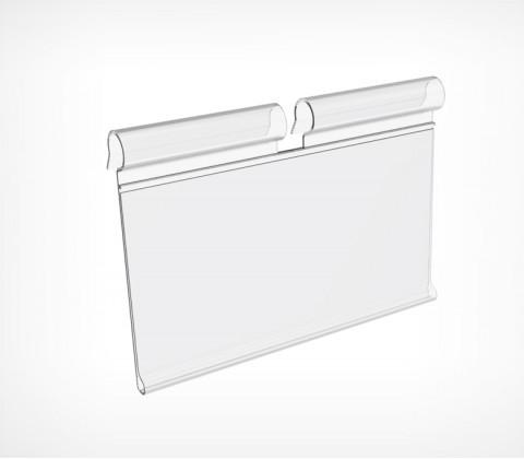 Ценникодержатель на крючок откидной VH39 длина 50 мм., цвет прозрачный