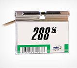 Ценникодержатель на крючок откидной VH39 длина 50 мм., цвет прозрачный , фото 2