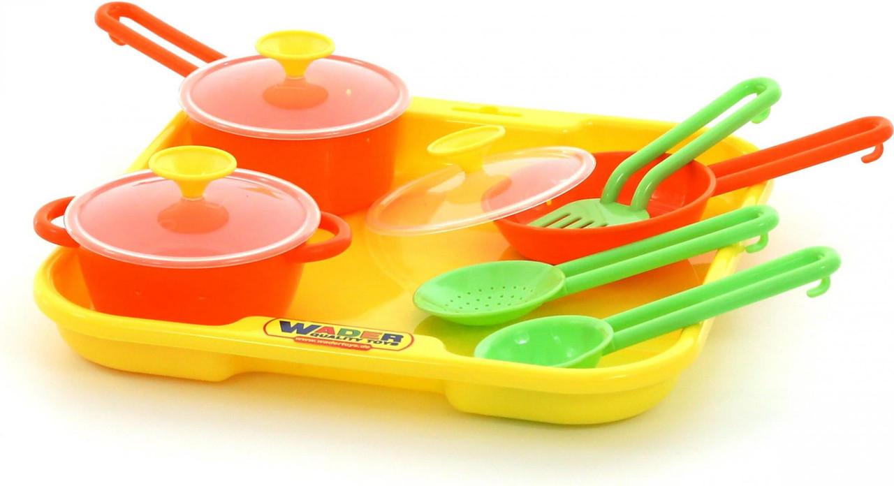 """Набор детской посуды """"Поварёнок"""" №1 с подносом 40732"""