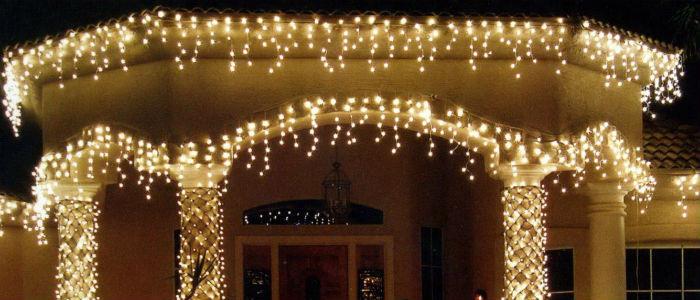 Гирлянда светодиодная ДОЖДИК (Бахрома) 8х0,7м,последовательное соединение(папа-мама), теплый, белый