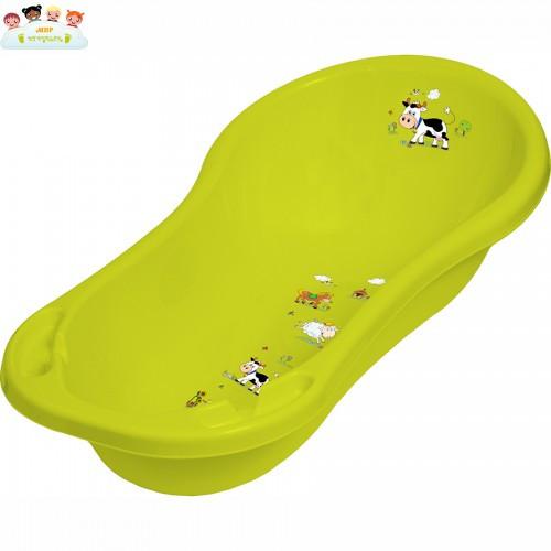 Детская ванночка ОКТ овальная 100см ВЕСЕЛАЯ ФЕРМА зеленая