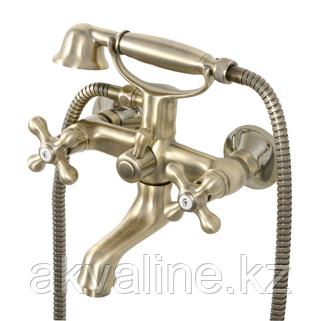 Смеситель для ванны 2-х вентильный с бронзовым покрытием, монтаж на два отверстия, серии NEW REGENT CLASSIC
