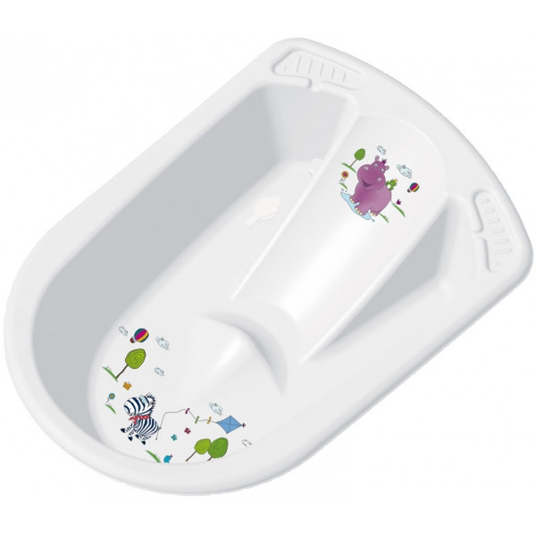 Детская ванночка ОКТ анатомическая HIPPO белая