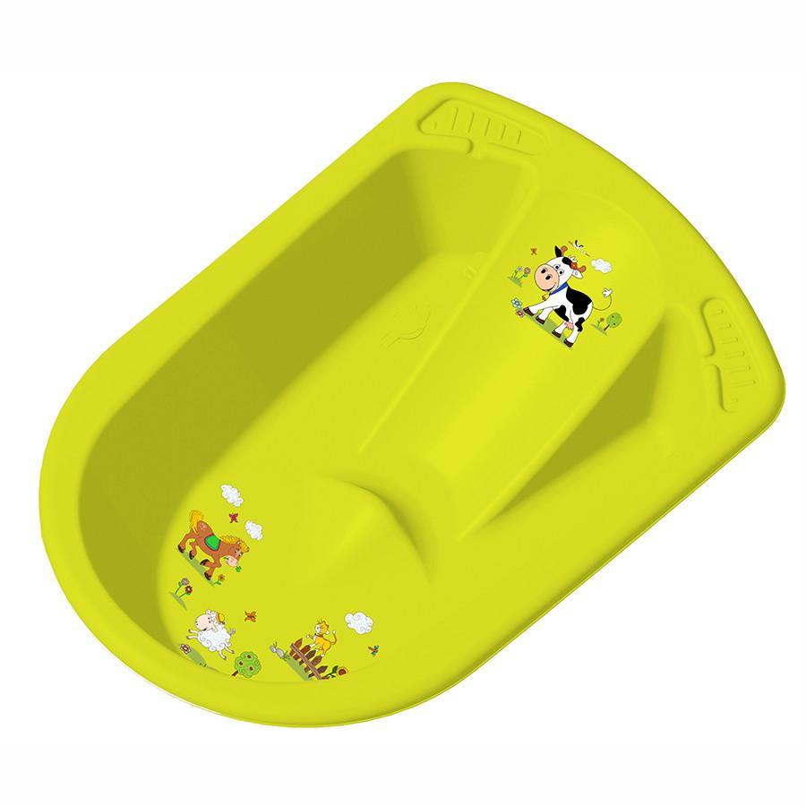 Детская ванночка ОКТ анатомическая  ВЕСЕЛАЯ ФЕРМА зеленая
