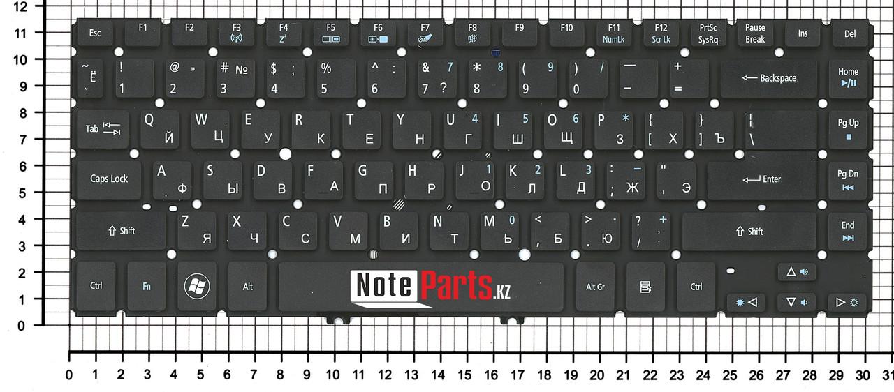 Клавиатура для ноутбука Acer Aspire V5-473G, ENG, черная