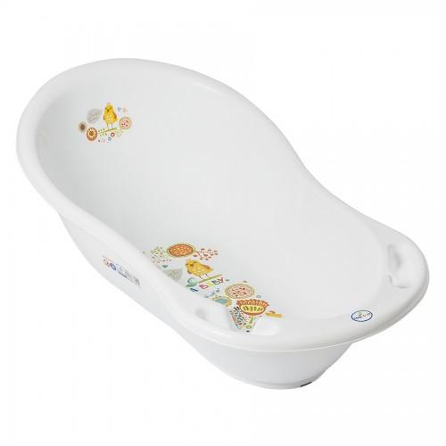 Детская ванночка ТЕГА овальная 86 см FOLK (ФОЛЬКЛОР)  белая