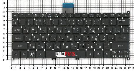 Клавиатура для ноутбука Acer Aspire S3/ S5/ One 756/ TravelMate B1, RU, черная, фото 2