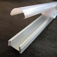 Светодидный профиль алюминиевый П-типа с матовым рассеивателем 18,2 х 9,6 мм, фото 1