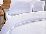Белый гостиничный комплект постельного белья из сатина. 1.5-ка. Турция., фото 3