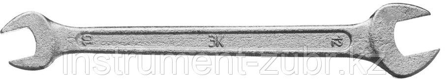 "Ключ рожковый гаечный ЗУБР ""СТАНДАРТ"", оцинкованный, 10х12мм, фото 2"
