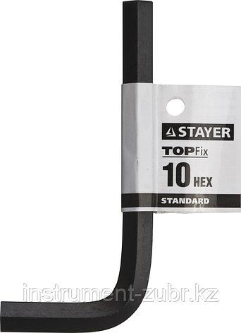 """Ключ имбусовый STAYER """"STANDARD"""", сталь, черный, 10мм, фото 2"""