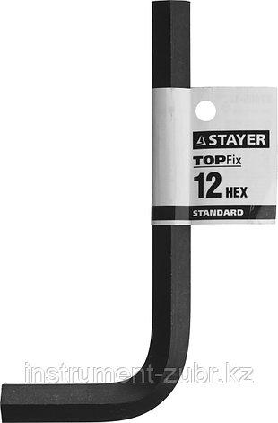 """Ключ имбусовый STAYER """"STANDARD"""", сталь, черный, 12мм, фото 2"""