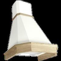 Вытяжка ELIKOR Камин Грань 60П-650 белый / дуб неокрашенный