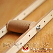 Костыли подмышечные деревянные с мягкими подмышечниками и УПС Штырь, фото 3