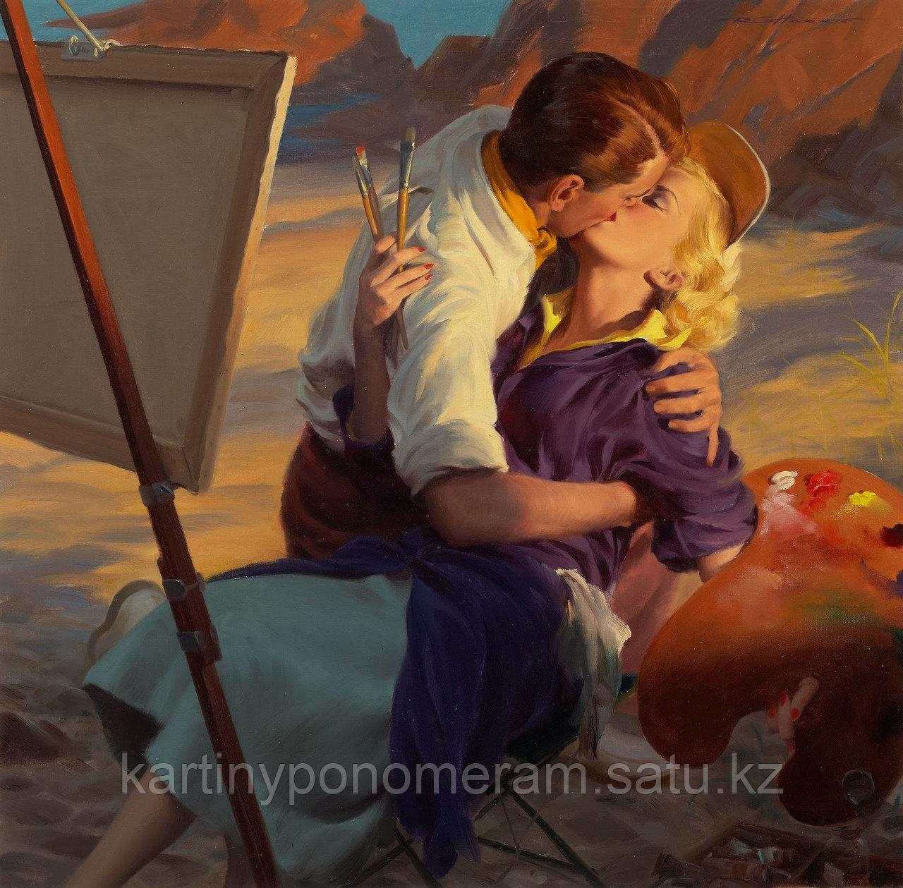 """Картина по номерам """"Страстный поцелуй"""""""
