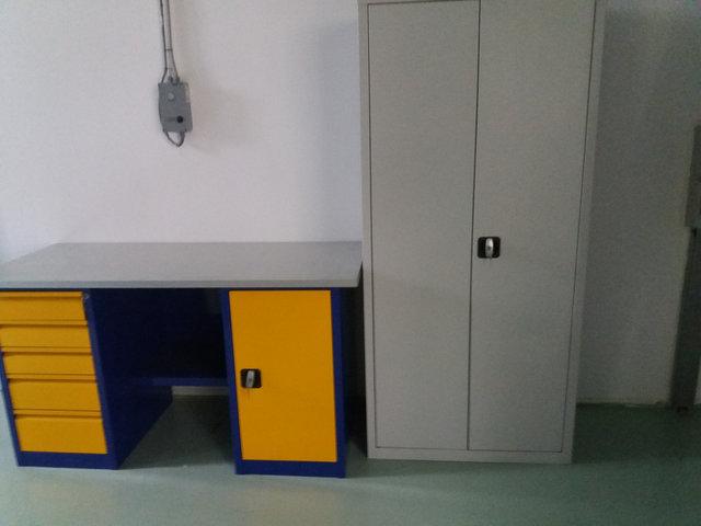 Верстак и шкаф