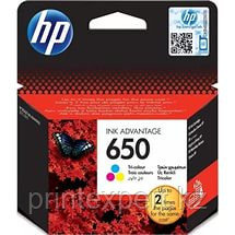HP CZ102AE Tri-colour Ink Cartridge №650 for Deskjet Ink Advantage 2515, up to 200 pages. ;, фото 2