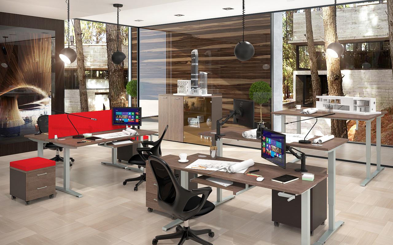 Стол офисный, регулируемый по высоте