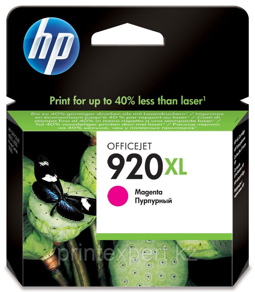 HP CD973AE Magenta Ink Cartridge №920XL for Officejet 6500/7000, 6 ml, up to 700 pages. ;