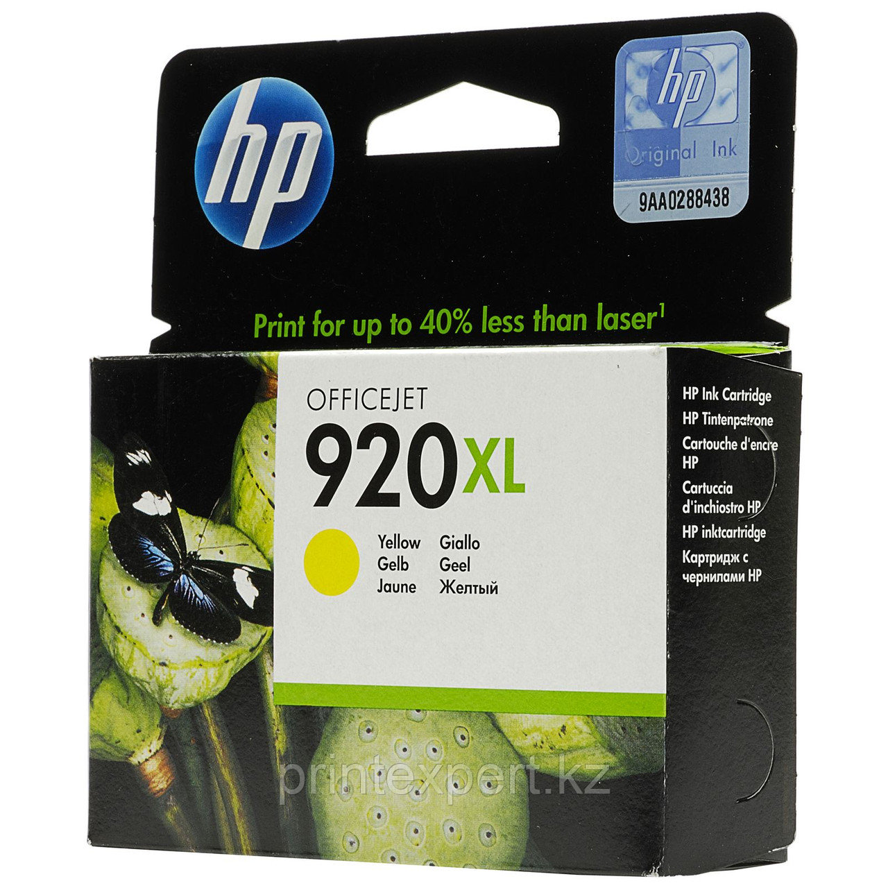HP CD974AE Yellow Ink Cartridge №920XL for Officejet 6500/7000, 6 ml, up to 700 pages. ;
