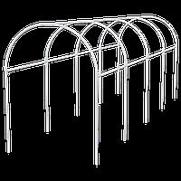 Каркас парника, пластиковый, 5x1, 1x1, 2 м, дуга D 20 мм, белый, PALISAD