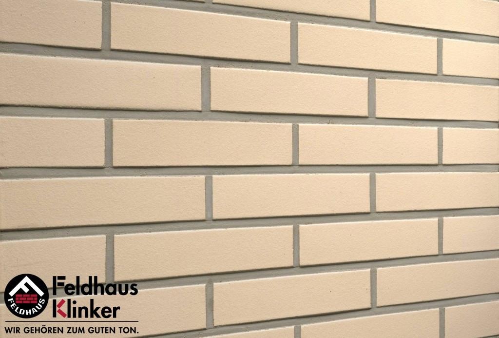"""Клинкерная плитка """"Feldhaus Klinker"""" для фасада и интерьера R100 perla liso"""
