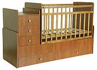 Кровать-трансформер Фея с рождения до 12лет 1100 орех, фото 1