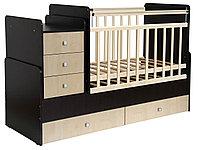 Детская кровать-трансформер Фея 1100 венге-клен