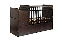 Кровать-трансформер Фея 1100 с рождения до 12 лет венге, фото 1