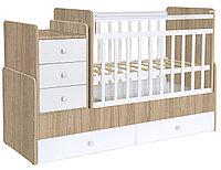 Детская кровать-трансформер Фея 1100 вяз-белый