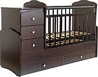 Детская кроватка-трансформер Фея 2100 (венге), фото 1