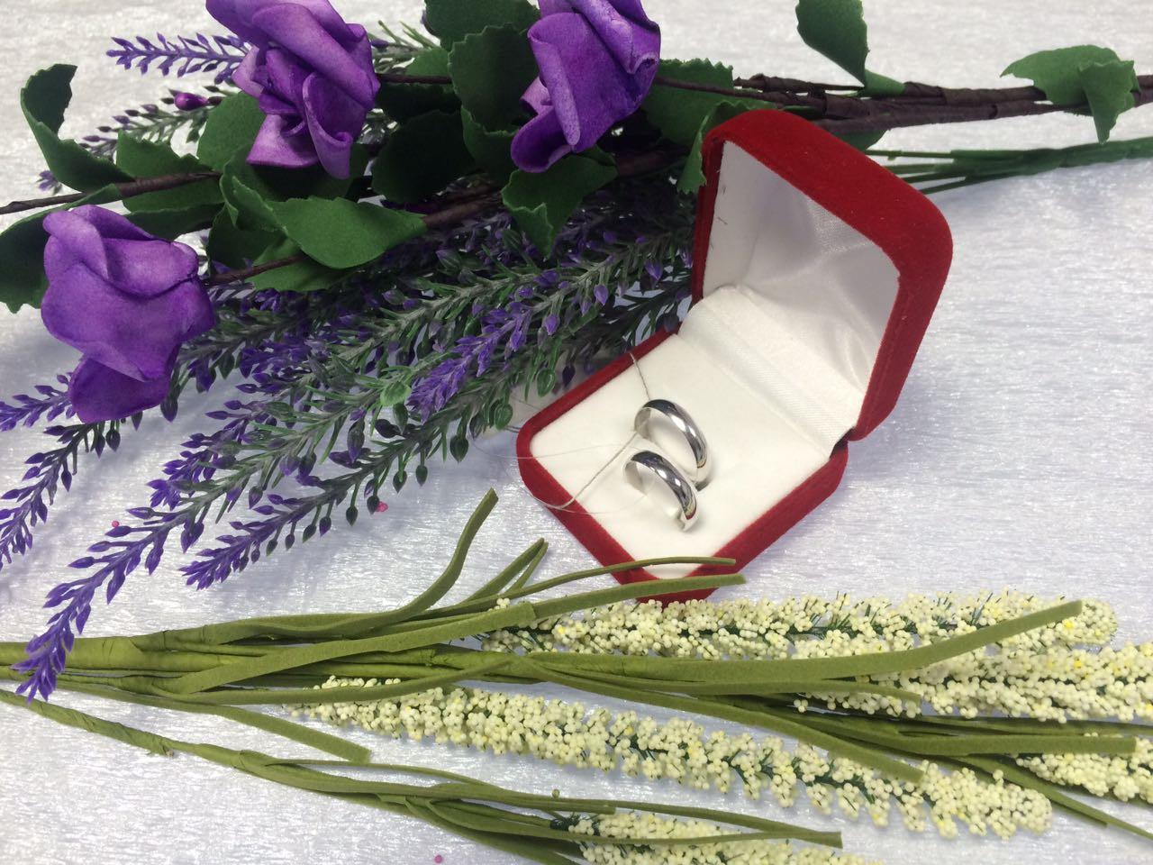 Серебряные обручальные кольца 925 пробы