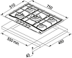 Встраиваемая поверхность Franke FHTL 755 4G TC OA C, фото 3