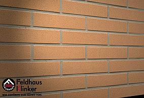 """Клинкерная плитка """"Feldhaus Klinker"""" для фасада и интерьера R206 nolani liso rosso"""