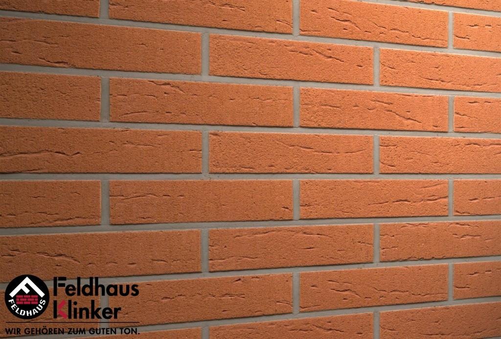 """Клинкерная плитка """"Feldhaus Klinker"""" для фасада и интерьера R227 terracotta rustico"""