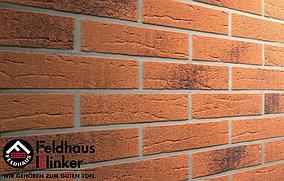 """Клинкерная плитка """"Feldhaus Klinker"""" для фасада и интерьера R228 terracota rustico carbo"""