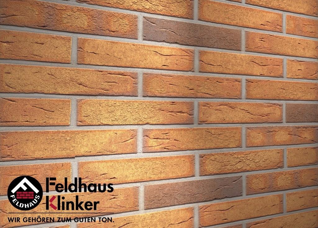 """Клинкерная плитка """"Feldhaus Klinker"""" для фасада и интерьера R268 nolani viva rustico"""