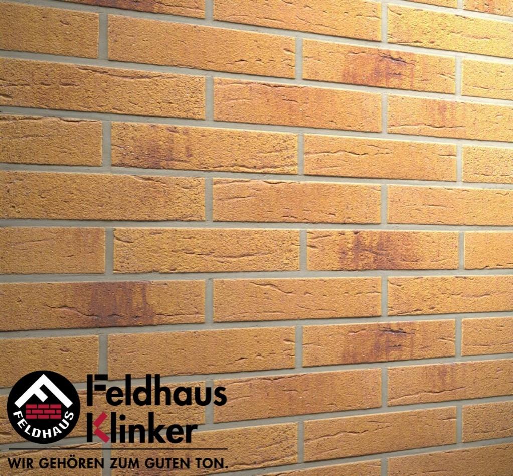 """Клинкерная плитка """"Feldhaus Klinker"""" для фасада и интерьера R287 amari viva rustico aubergine"""