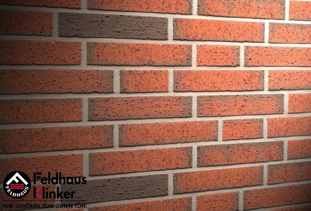 """Клинкерная плитка """"Feldhaus Klinker"""" для фасада и интерьера R313 ardor rugo"""