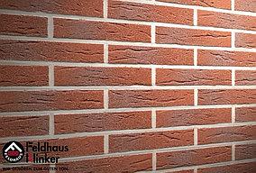 """Клинкерная плитка """"Feldhaus Klinker"""" для фасада и интерьера R335 carmesi antic mana"""