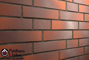 """Клинкерная плитка """"Feldhaus Klinker"""" для фасада и интерьера R381 carmesi aubergine liso"""