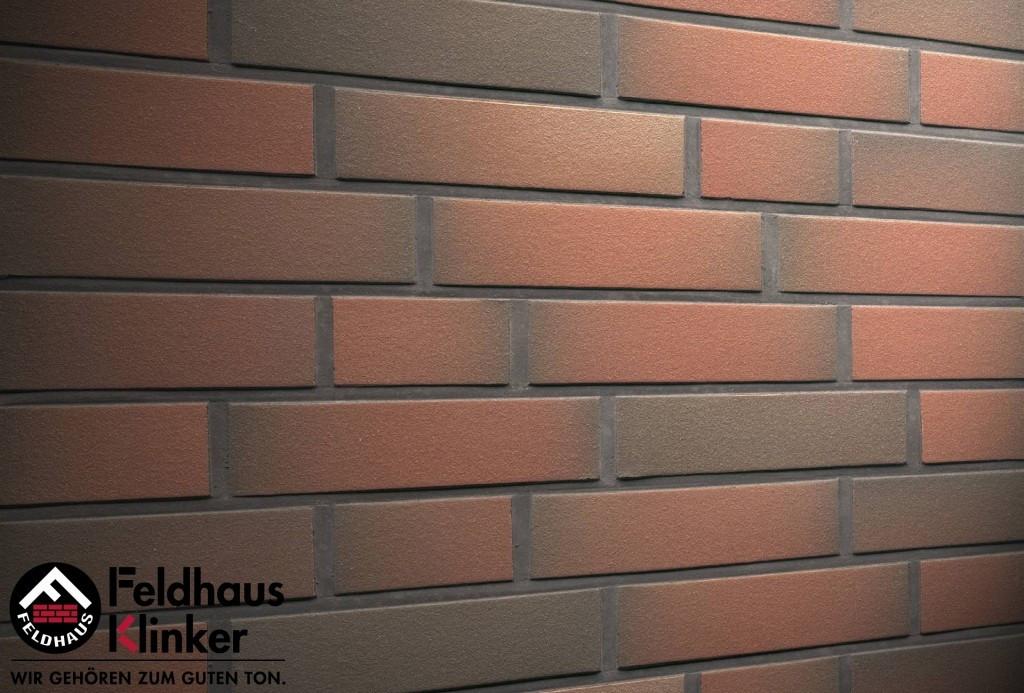 """Клинкерная плитка """"Feldhaus Klinker"""" для фасада и интерьера R382 cerasi viva liso"""