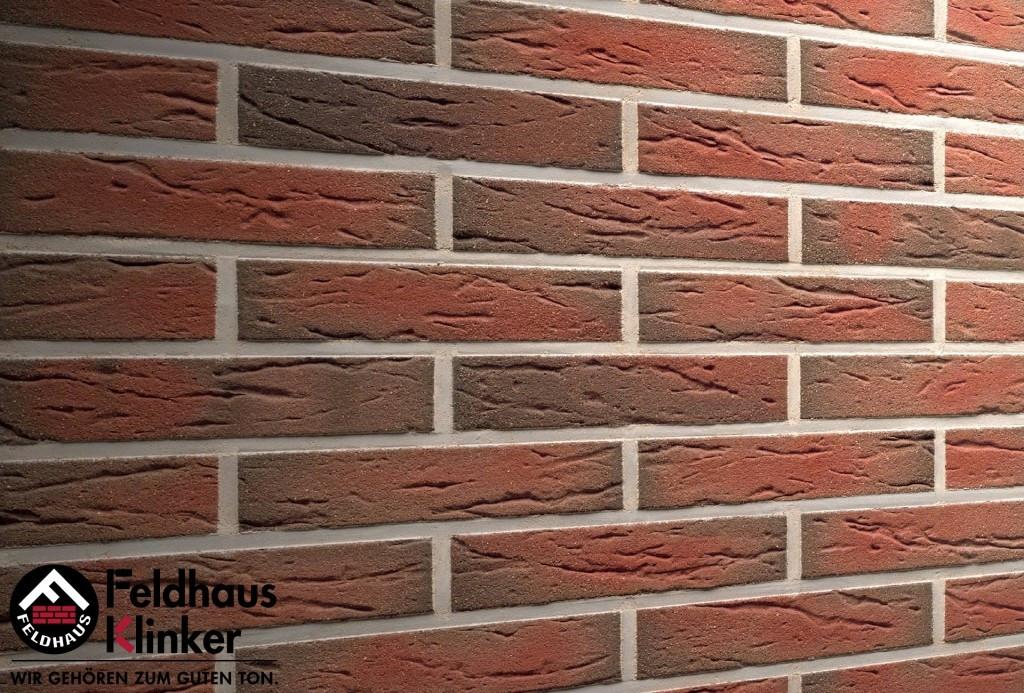 """Клинкерная плитка """"Feldhaus Klinker"""" для фасада и интерьера R436 ardor mana"""