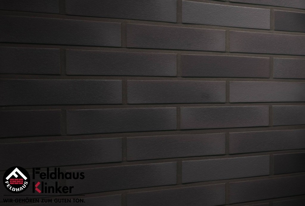 """Клинкерная плитка """"Feldhaus Klinker"""" для фасада и интерьера R509 geo ferrum liso"""