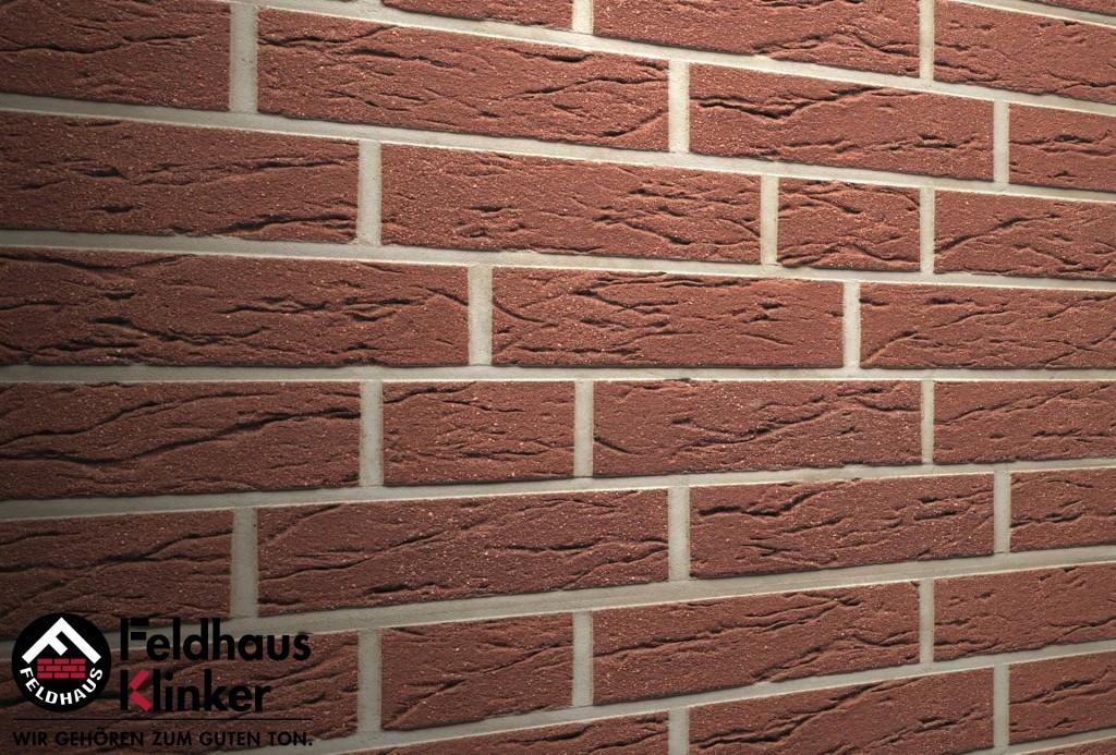 """Клинкерная плитка """"Feldhaus Klinker"""" для фасада и интерьера R535 terra mana"""