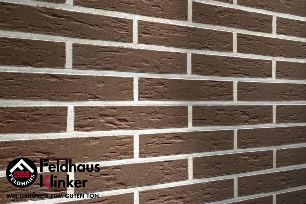 """Клинкерная плитка """"Feldhaus Klinker"""" для фасада и интерьера R540 geo senso"""