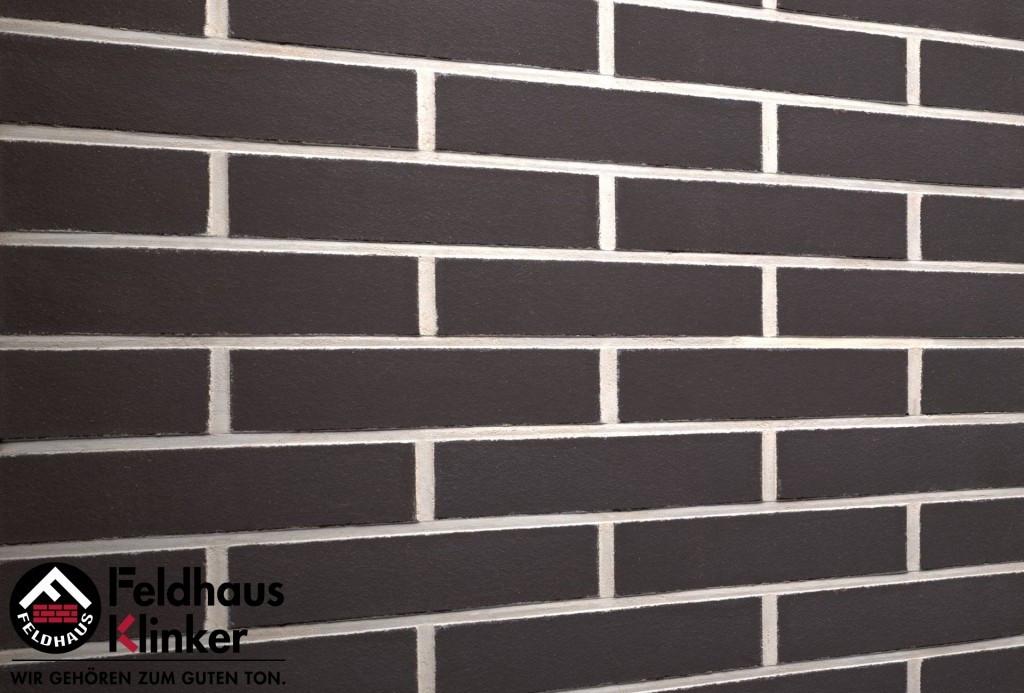 """Клинкерная плитка """"Feldhaus Klinker"""" для фасада и интерьера R700 anthracit liso"""
