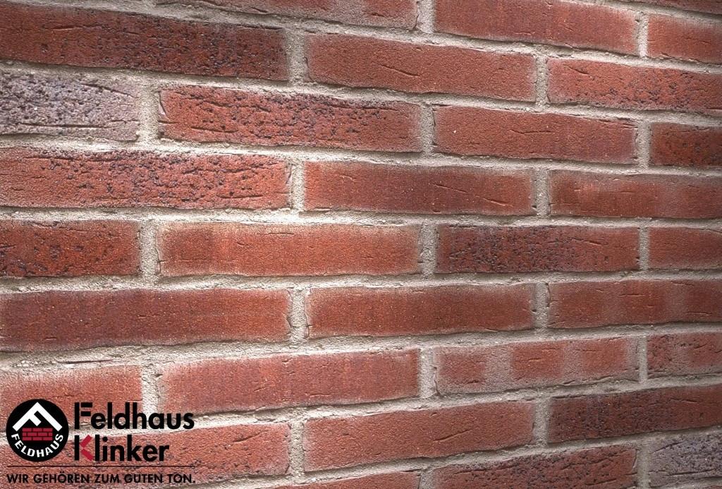 """Клинкерная плитка """"Feldhaus Klinker"""" для фасада и интерьера R664 sintra cerasi ocasa"""